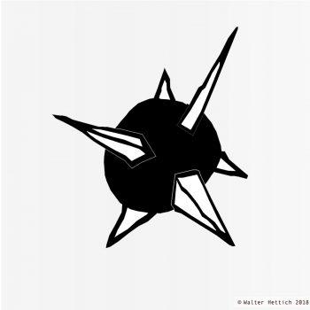 Sputnik - Zeichnung - Blackshape Anatomy
